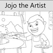 Jojo the Artist - Colouring Pages - Banner Image