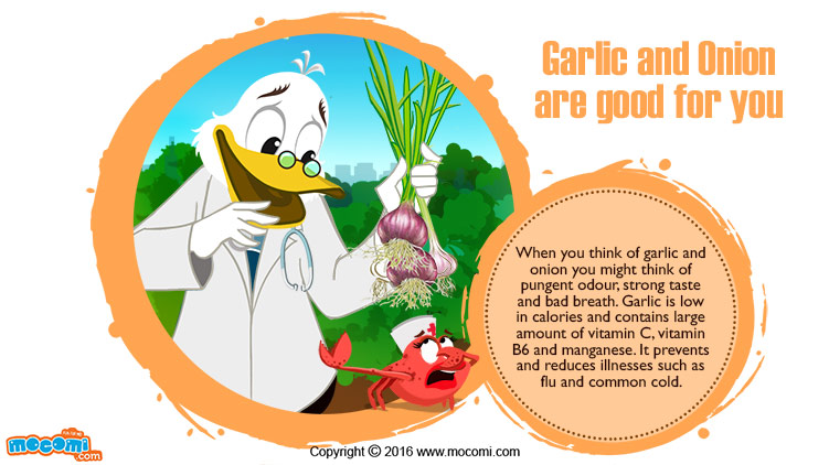 Garlic and Onion are good for you!