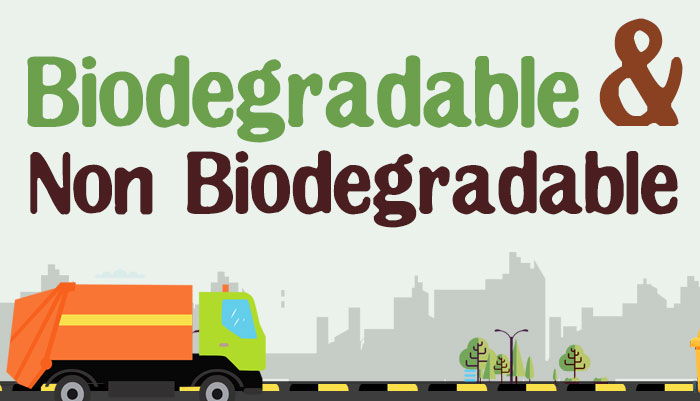 biodegradable and nonbiodegradable substances