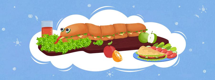 Sandwich Caterpillars